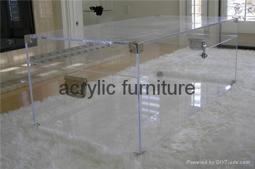 Acrylic box acrylic coffee table acrylic table acrylic side table  funiture 2