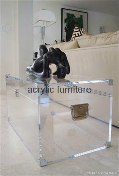 Acrylic box acrylic coffee table acrylic table acrylic side table  funiture 4