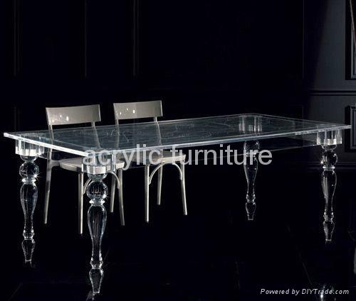 Acrylic dinning table acrylic table acrylic furniture legs acrylic table legs 1