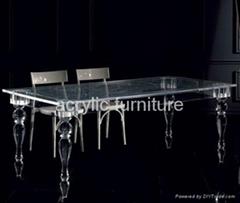 Acrylic dinning table acrylic table