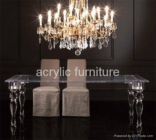 Acrylic dinning table acrylic table acrylic furniture legs acrylic table legs 2