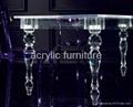 Acrylic dinning table acrylic table acrylic furniture legs acrylic table legs 3