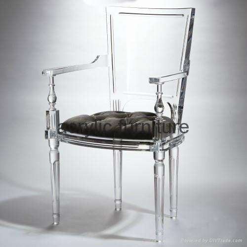 Acrylic dinning chair acrylic chair acrylic furniture legs acrylic arm chair 1