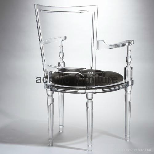 Acrylic dinning chair acrylic chair acrylic furniture legs acrylic arm chair 2
