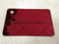 Red acrylic mirror plexiglass acrylic sheet 1220*1830 2