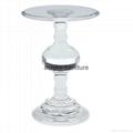 Acrylic side table acrylic round shape