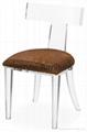 Acrylic dinning chair acrylic chair