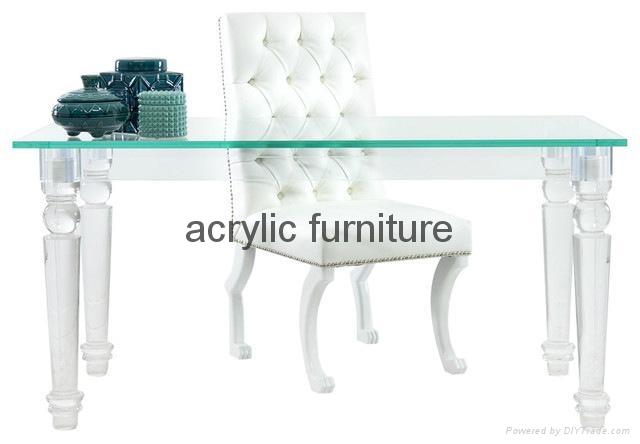 Acrylic desk acrylic table acrylic furniture dinning table 1