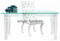 Acrylic desk acrylic table acrylic furniture dinning table