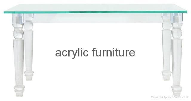 Acrylic desk acrylic table acrylic furniture dinning table 5