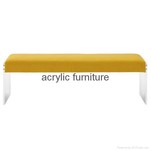 Acrylic bed stool acrylic long stool acrylic funiture acrylic sofa 2