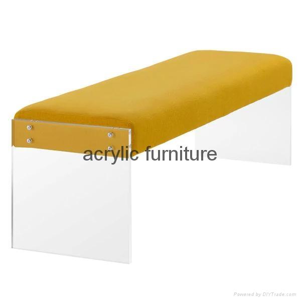 Acrylic bed stool acrylic long stool acrylic funiture acrylic sofa 3