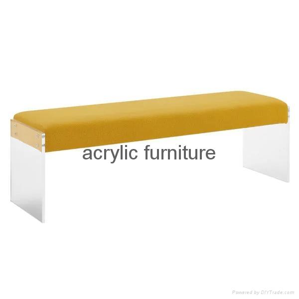 Acrylic bed stool acrylic long stool acrylic funiture acrylic sofa 4