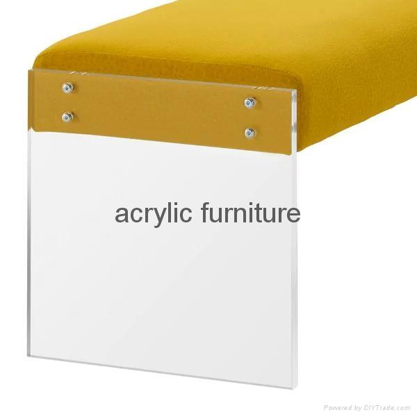 Acrylic bed stool acrylic long stool acrylic funiture acrylic sofa 5