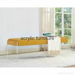 Acrylic bed stool acrylic long stool acrylic funiture acrylic sofa