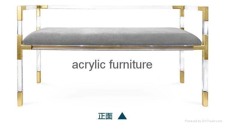 Acrylic bed stool acrylic long stool acrylic funiture 2