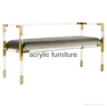Acrylic bed stool acrylic long stool acrylic funiture 3