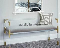 Acrylic bed stool acrylic long stool acrylic funiture
