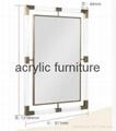 Acrylic mirror frame acrylic furniture acrylic frame  2