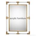 Acrylic mirror frame acrylic furniture acrylic frame  3