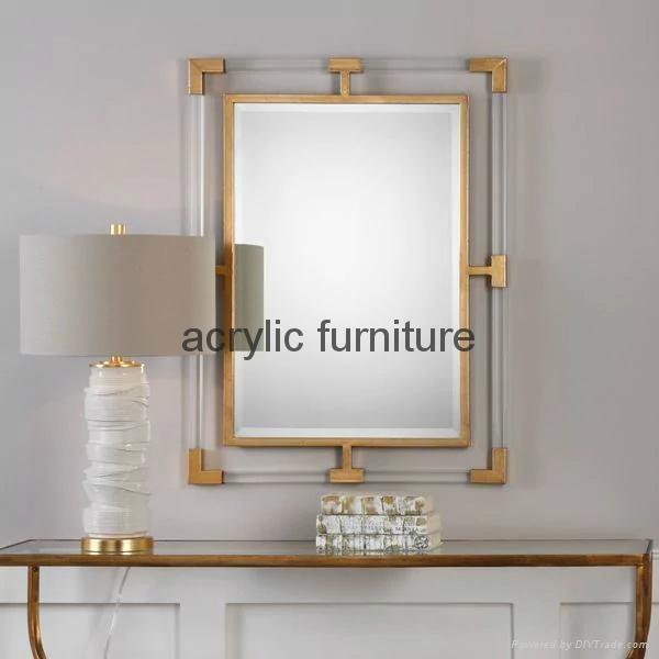 Acrylic mirror frame acrylic furniture acrylic frame  1