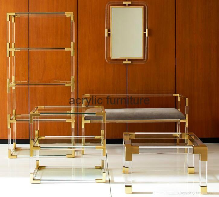 Acrylic mirror frame acrylic furniture acrylic frame  4