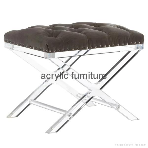 Acrylic stool acrylic side table end table acrylic funiture  2