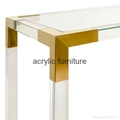 Acrylic console table entrance table acrylic furniture  4