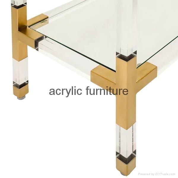 Acrylic console table entrance table acrylic furniture  5