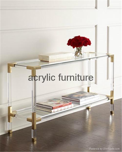 Acrylic console table entrance table acrylic furniture  1