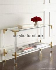 Acrylic console table en