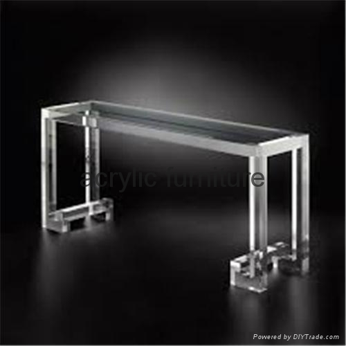 Acrylic console table entrance table acrylic furniture  2