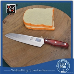Wholesale 4Cr13 Stainless Knife Chef Knife With Pakka Wood Hanlde
