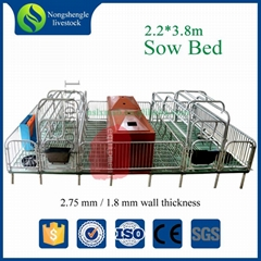 Hot dip galvanized farrowing stall for pig farrowing sow cages