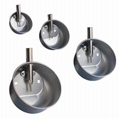 Stainless steel drinker pig trough swine waterer drinking bowl