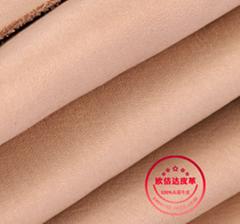 优质孟加拉进口环保头层牛皮植鞣革本色摔纹树膏皮