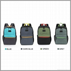 2017 hot new products waterproof polyester casual school backpack