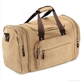 2017 vintage style sturdy canvas gym sports duffle bag with shoes compartment