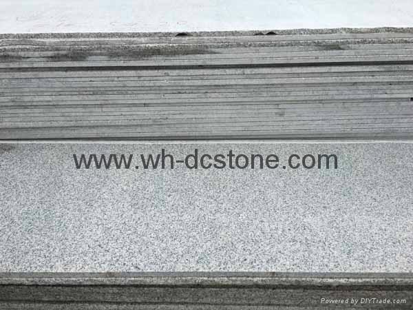 sesame gray granite round stone Used in public place 1