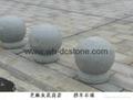 sesame gray granite round stone Used in public place 2