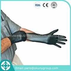 Black nitrile glove disposable work gloves