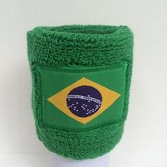 Cotton woven label logo sweatband