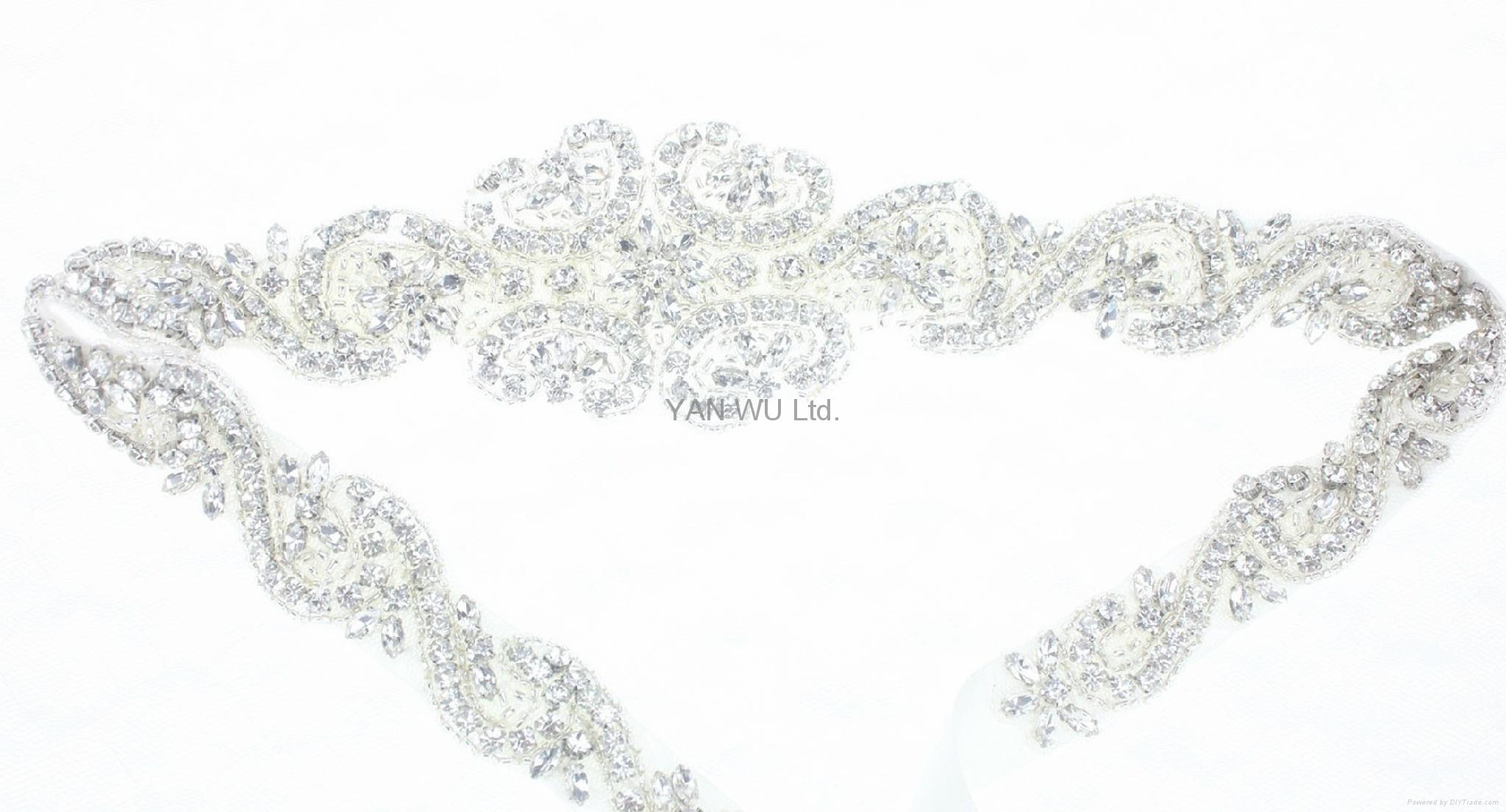 新娘腰帶婚紗配飾婚禮鑽石首飾 1