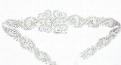 新娘腰帶婚紗配飾婚禮鑽石首飾