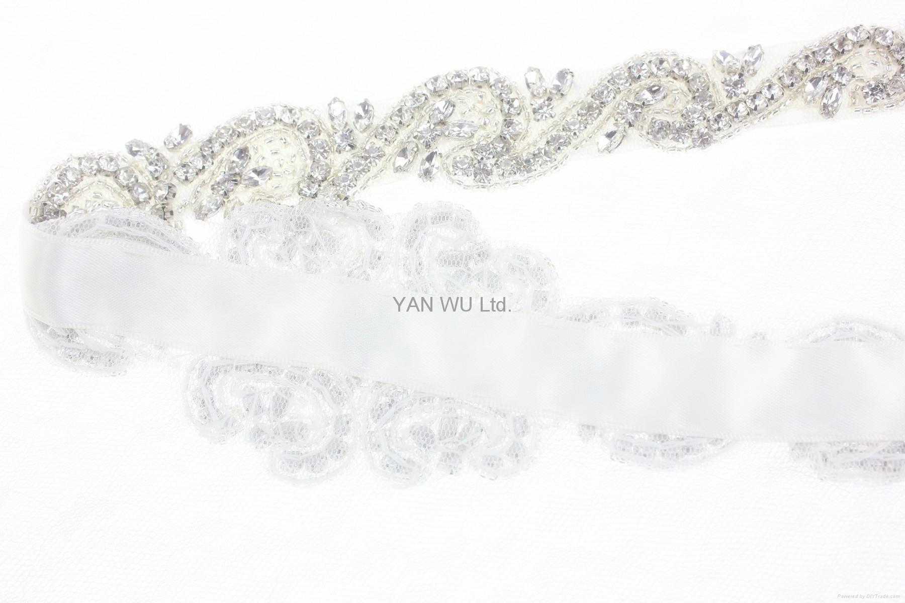 新娘腰帶婚紗配飾婚禮鑽石首飾 2