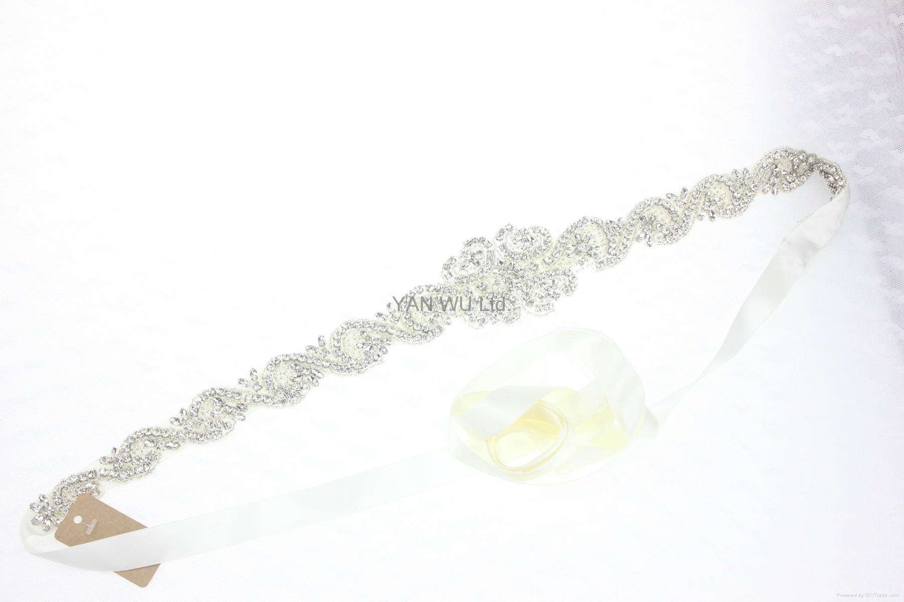 新娘腰帶婚紗配飾婚禮鑽石首飾 3