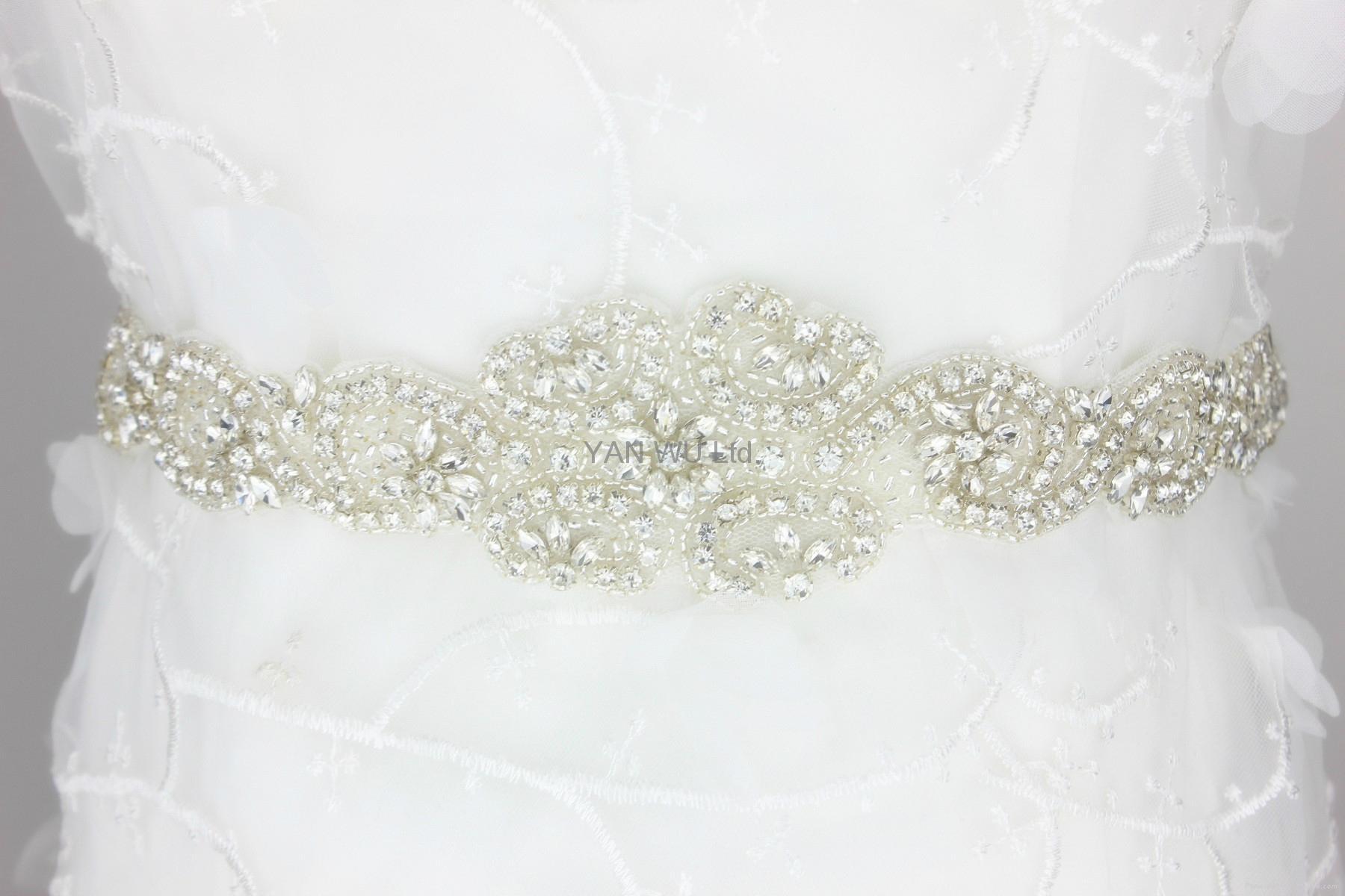 新娘腰帶婚紗配飾婚禮鑽石首飾 5