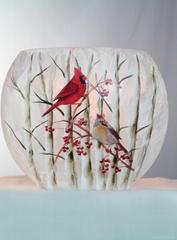Lighted Glass Oval Vase