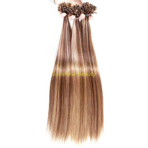 U  tip keratin hair prebonded hair remy hair 5