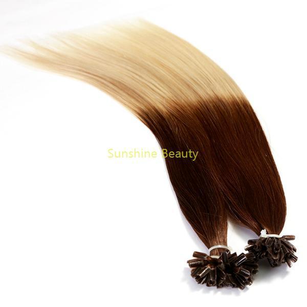 U  tip keratin hair prebonded hair remy hair 3